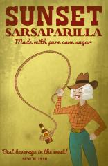sunset sarsaparilla poster By laggycreations d4ek51p