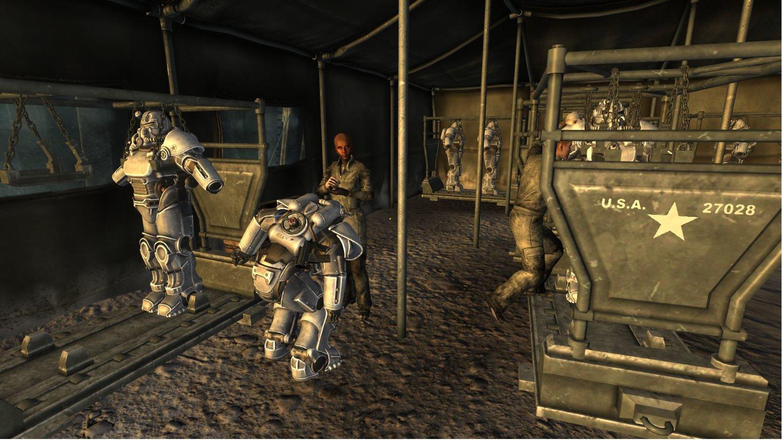 American Soldier in Winterezed T51Power armor